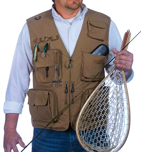 Fly fishing apparel. Outdoor Fly Fishing Vest with 16 Pockets. Breathable active wear Jacket for Fishing, Photography, Sports, Hiking, Cycling and Hunting. Lightweight Mesh Fabric - great to hold all your Gear!