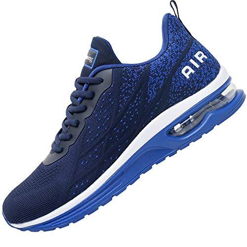 Impdoo Mens Air Athletic Running Sneaker Cute Fitness Sport Gym Jogging Tennis Shoes (Darkblue US 9 B(M)