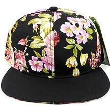 Junior Kids Plain Snapback Hats Fashion - Children Floral Caps 14