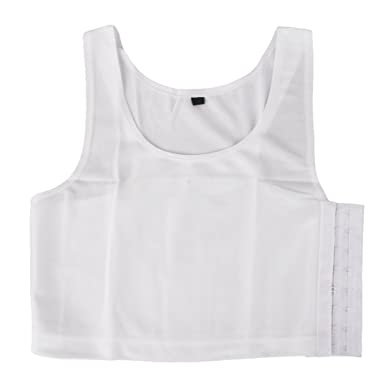 faa6881baf Women's Polyester Tomboy Breathable Buckle Short Chest Breast Binder Tank  Top Vest (White, E_15016077, Large): Amazon.in: Clothing & Accessories
