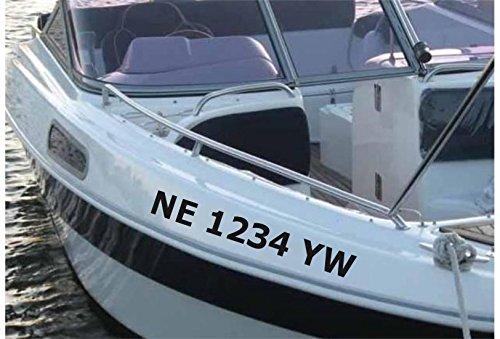 Amazoncom StickerLoaf Brand CUSTOM Boat Registration Number - Custom boat numbers