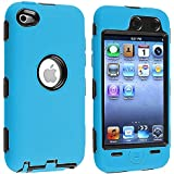 Deluxe Blue 3 Part Hard Skin Case Cover Compatible with Ipd Gen4 Touch