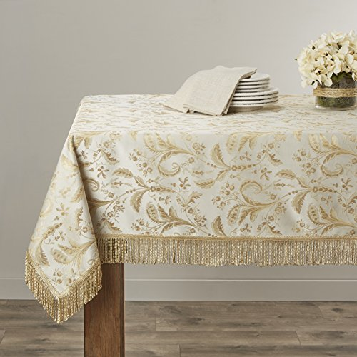Luxury Damask Table (Violet Linen Luxury Damask Design Oblong/Rectangle Tablecloth, 52