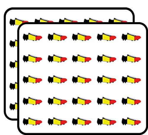 - Belgium Flag Soccer Cleats Art Decor Sticker for Scrapbooking, Calendars, Arts, Kids DIY Crafts, Album, Bullet Journals 50 Pack