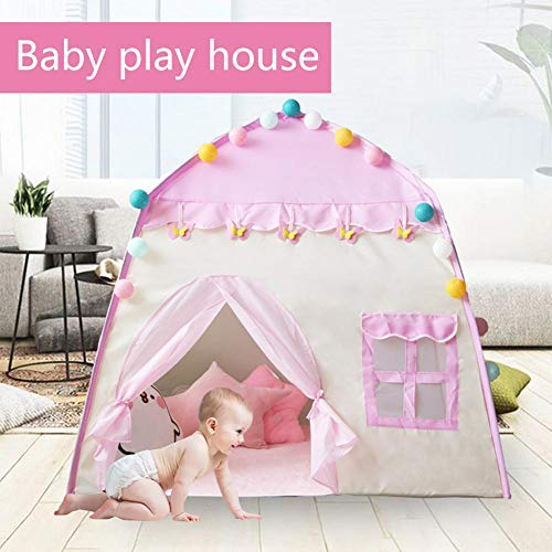 130x100x130cm Xploit Tent Play House Kids Play Tent Toy Castle Portable Playhouse House 3-4 Children Indoor Toy House for Girls Birthday Gift Pink