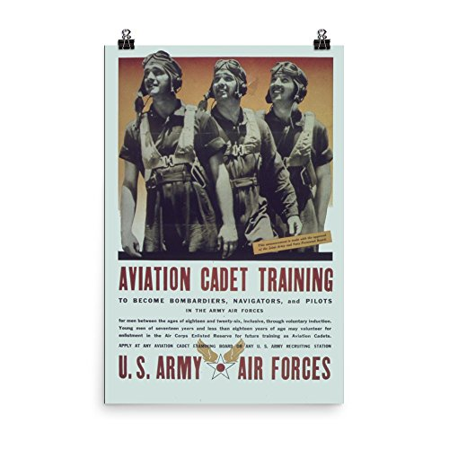 Vintage poster - Aviation Cadet Training 0313 - Enhanced Mat