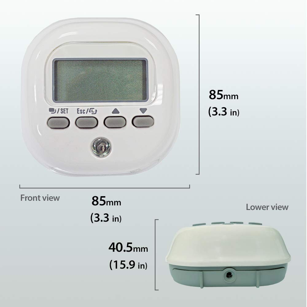 Everspring Z-Wave ST815 - Light Illumination Sensor With LCD Panel. Wireless Lux Meter, Battery Powered, Z-Wave gateway required (White)