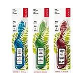RADIUS Big BrushToothbrush, Pack of 3, Right Hand, Soft Bristles, Colors May Vary