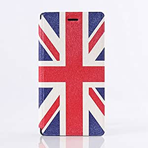 Uming® M Slim PU Colorful Pattern Printing Drawing case for SONY Xperia M2 PU Flip Holster Plastic Cover inside with Stand Stander Holder Hand Free Shell Protective Mobile Cell Phone Case Cover Bag - UK Flag