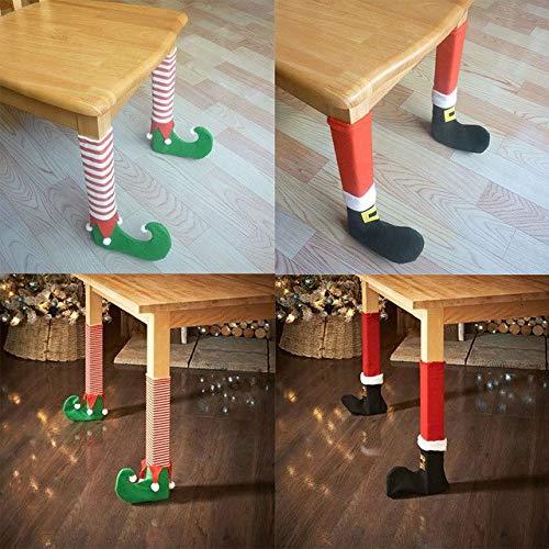 MNDSHGU 4 Unidades Navidad Silla Pata de Mesa Calcetines Evitar ...