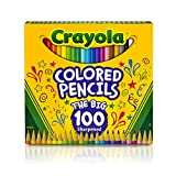 Crayola Colored Pencils, 100 Count, Vibrant Colors, Pre-sharpened, Art Tools, Great for Adult Coloring