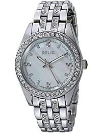 Women's Quartz Stainless Steel and Alloy Casual Watch, Color:Silver-Toned (Model: ZR34420)