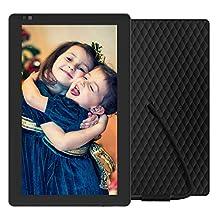 Nixplay Seed 10.1 Inch Widescreen WiFi Digital Photo Frame with Alexa Integration - Black (W10B)