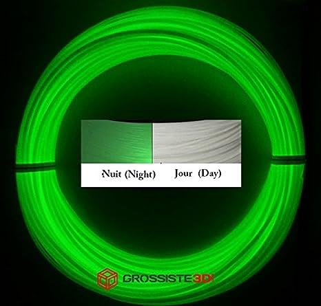 Rollos de 10 metros Filamentos 3D fosforescente verde ABS 1,75 mm ...