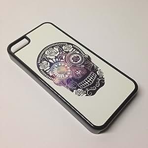 diy phone caseBlack iphone 4/4s Case - Mexican Skull Art Space Galaxydiy phone case