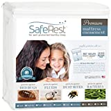 SafeRest Premium Zippered Mattress Encasement - Lab Tested Bed Bug Proof, Dust Mite and Waterproof - Breathable, Noiseless and Vinyl Free (Fits 9 - 12 in. H) - Queen Size