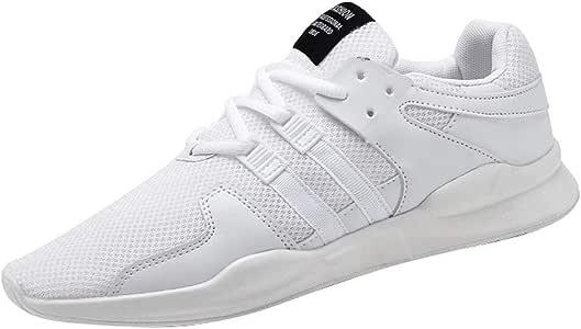 RYTEJFES Zapatillas De Correr De Suela Gruesa Malla para Hombre Zapatos Casuales Salvajes Zapatillas De Deporte Transpirables Zapatillas De Running De Antideslizantes De Malla para Hombre: Amazon.es: Hogar