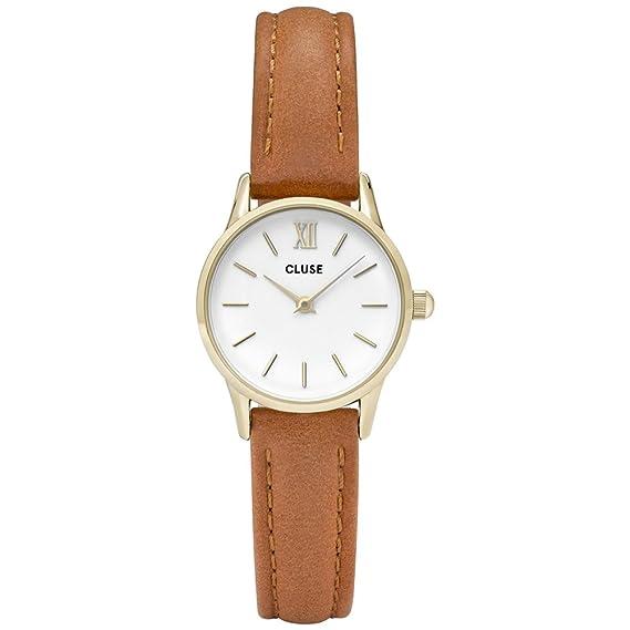 Cluse Reloj Analógico para Mujer de Cuarzo con Correa en Cuero CL50022: Cluse: Amazon.es: Relojes