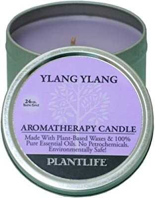 Ylang Ylang Aromatherapy Candle- made with 100% pure essential oils - 3oz tin