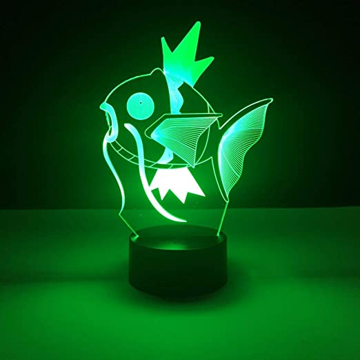 wangZJ Luz de noche de ilusión 3d / Lámpara de mesa de ...