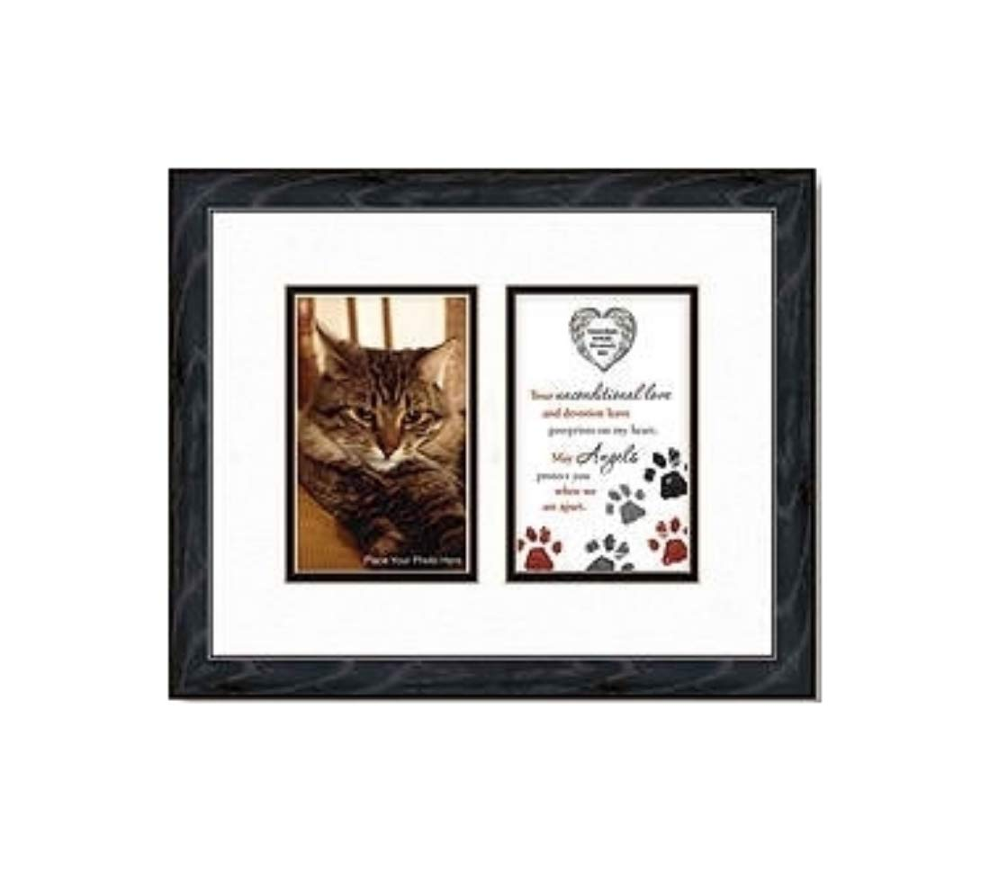 12 Inch Guardian Angel Protect My Pet Cat Photo Frame