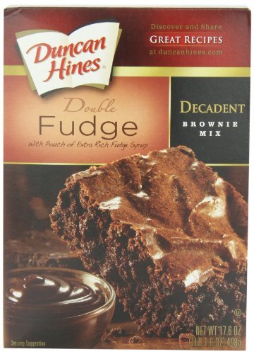Duncan Hines Decadent Brownie Mix, Double Fudge, 17.6 Ounce (Pack of 6) by Duncan Hines by Duncan Hines