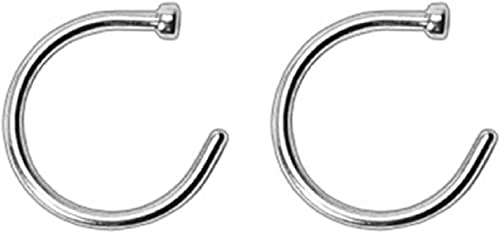 Amazon Com Eg Gifts Nose Ring Surgical Steel With Flat Back 18