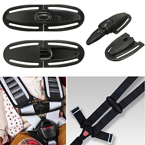 Baby Car Safety Seat Strap Belt Lock Buckle Latch Harness Chest Child Clip Knots by CarKoolz