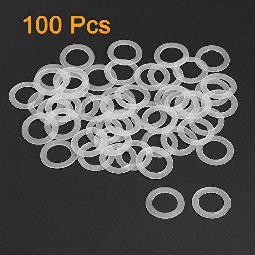 Nylon Flat washers for M18 Screw Bolt 27 mm OD 1 mm Transparent Thickness 100 Pieces