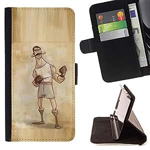 BullDog Case - FOR/LG OPTIMUS L90 / - / boxer retro vintage manly man gloves /- Monedero de cuero de la PU Llevar cubierta de la caja con el ID Credit Card Slots Flip funda de cuer