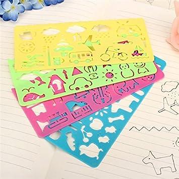 Farway2 Sets 8 Cute Art Symbole Zeichnen Vorlage Lineal Fur Kinder