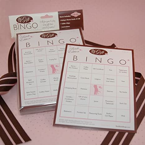 bridal shower gift bingo for 50 guests