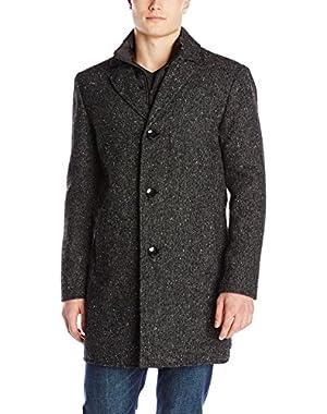 Men's Wool-Blend Walker Coat with Puffer Bib