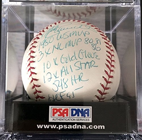 Mike Schmidt Hof 1995 6 Stat Autographed Signature Major League Baseball - PSA/DNA (Mike Schmidt Stats)