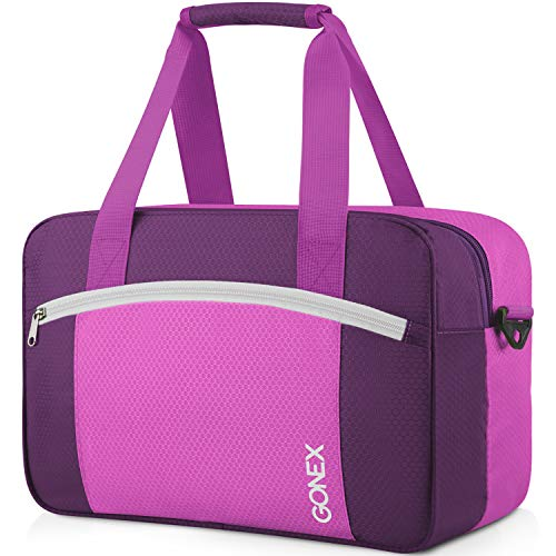 Gonex Wet Dry Separated Bag, Wet Separating Bag for Swimming Equipment, Swimsuit, Clothes, Large Size Purple