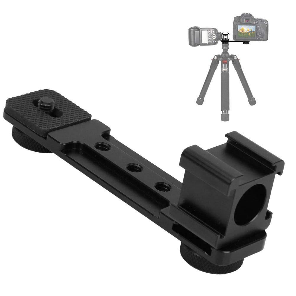 V BESTLIFE Gimbal Mount Bracket, Aluminum Alloy Triple Hot Shoe Mount Light Bracket Extension Rod for Gimbal Camera Phone by V BESTLIFE