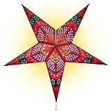 Happy Sales HSSL-FHCBRD, Honeycomb Paper Star Lantern Red