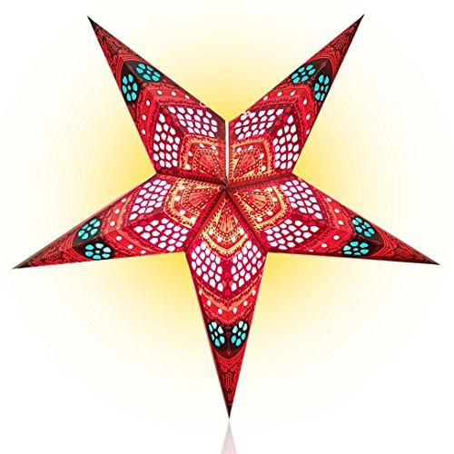 Happy-Sales-HSSL-FHCBRD-Honeycomb-Paper-Star-Lantern-Red