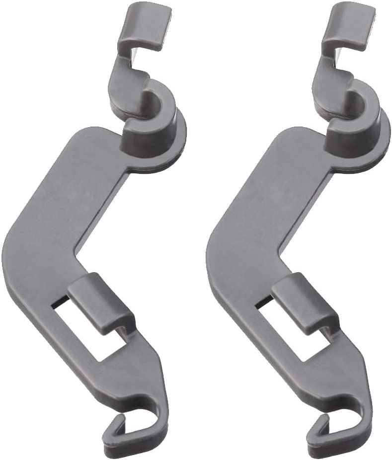 W10082853 Dish Washer Rack Tine Pivot Clip Replacement Parts For Whirlpool Kenmore KitchenAid - (Pack of 2) Suitable model:1446946, AH1734891, EA1734891, PS1734891, WPW10082853, LP13747