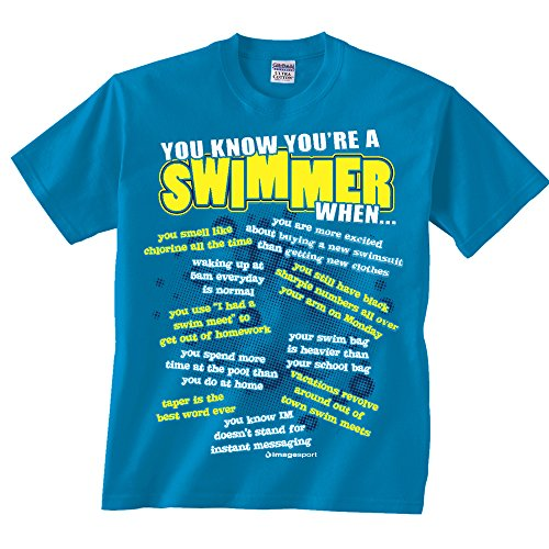 Swimming You Know T-shirt Adult Medium Sapphire