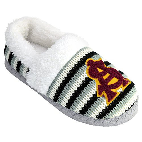 NCAA Arizona State Sun Devils Women's A-Line Slipper, Striped, Large