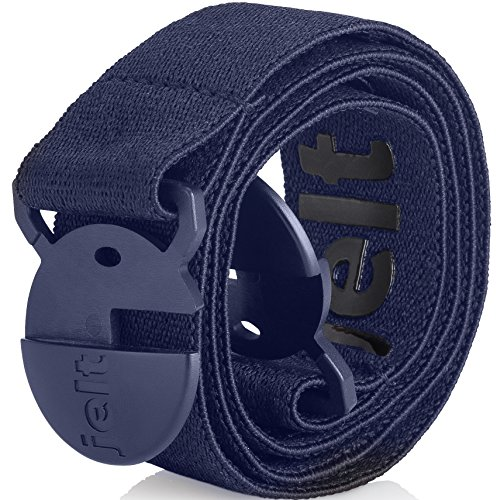 How To Roll Metal - Strong & Invisible Elastic Stretch Belt | Eco-Friendly For Women and Men by Jelt (Denim Blue, Medium)