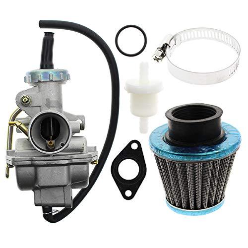 AUTOKAY PZ20 Carb Carburetor 49cc 70cc 90cc 100cc 110cc 125cc Coolster NST for Chinese ATV Quad Go kart 4 strokeSUNL TAOTAO JCL with Gasket Air ()