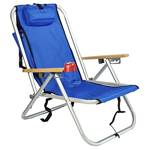 Deluxe WearEver Aluminum Backpack Chair with Large Storage Pouch by Rio