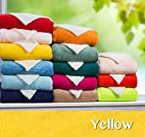 Clara Clark ®Micro Mink Sherpa Reversible Throw Blanket, Full / Queen Size 78″ x 94″, Yellow