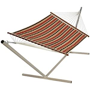 Castaway Q9002 Large Quilted Hammock, Patio Stripe