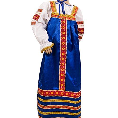 Alyonushka Sundress and Blouse Set (blue) -