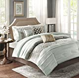 Madison Park Bryant 7 Piece Comforter Set, California King, Blue