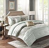 Madison Park Bryant 7 Piece Comforter Set, California King, Blue