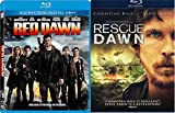 Red Dawn Double Feature + Rescue Dawn Blu Ray 2 Pack War Movie Action Set